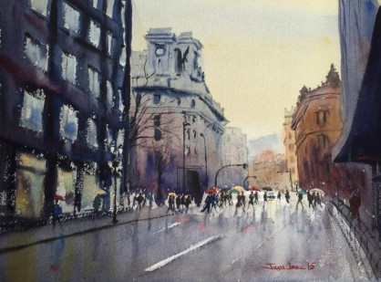 acuarela, watercolor, Bilbao