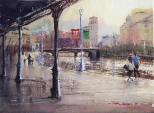 acuarela, watercolor, Bilbao