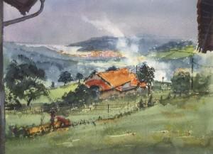 Lekeitio, Gardata, acuarela, watercolor