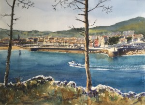 Lekeitio, acuarela, watercolor