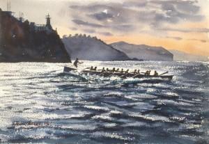 Isuntza, Lekeitio, acuarela, watercolor