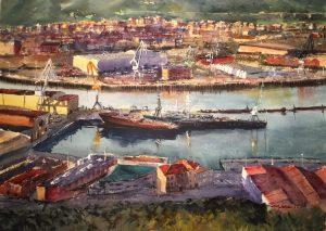 Bilbao, acuarela, watercolor