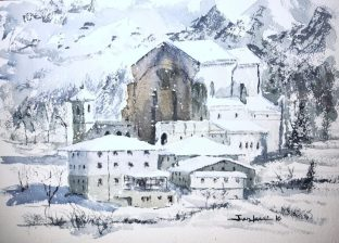 Urkiola, acuarela, watercolor