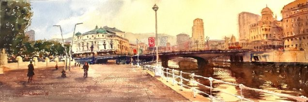 Bilbao, acuarela, watercolor