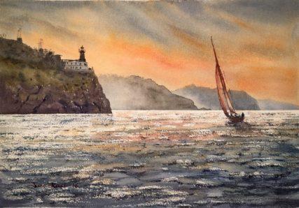 Lekeitio, acuarela, watercolor