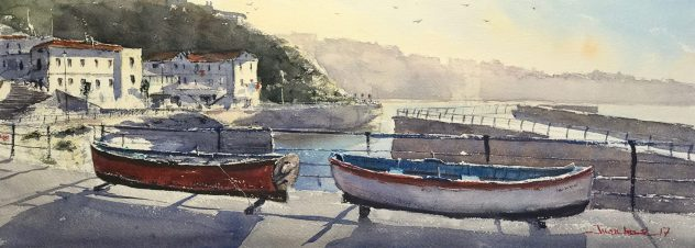 Txalupas en el Puerto Viejo de Algorta